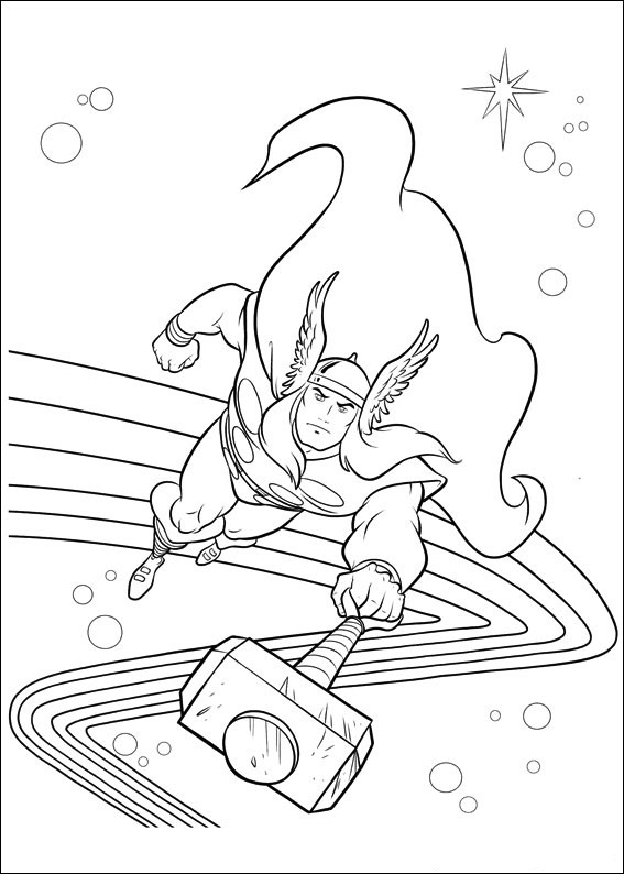 Coloriage Thor en ligne