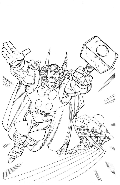 Coloriage Thor à imprimer gratuit pour les enfants