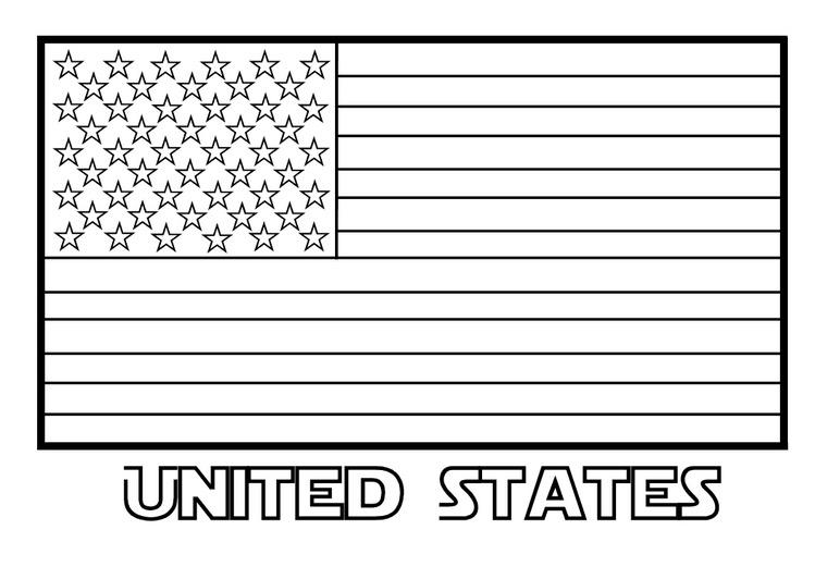 Coloriage drapeau américain patriotique