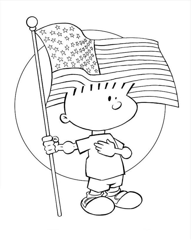 Coloriage drapeau américain gratuit