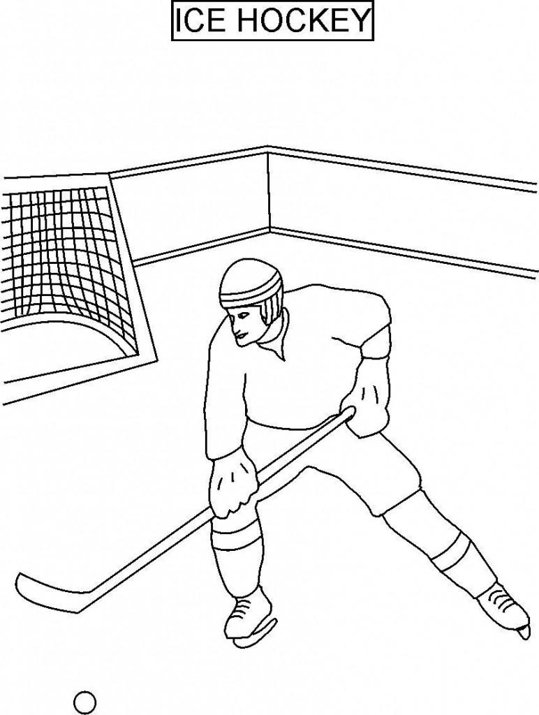 Coloriage de hockey