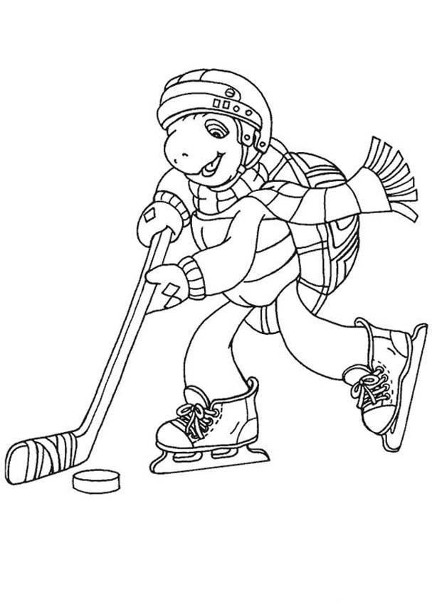 Coloriage de hockey à imprimer