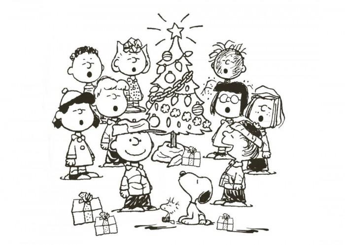 Coloriage Snoopy Noël