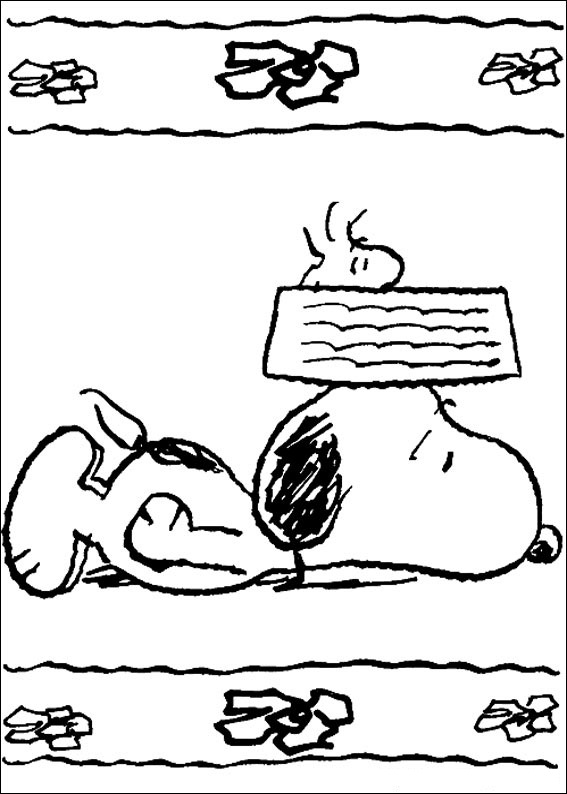 Snoopy à colorier