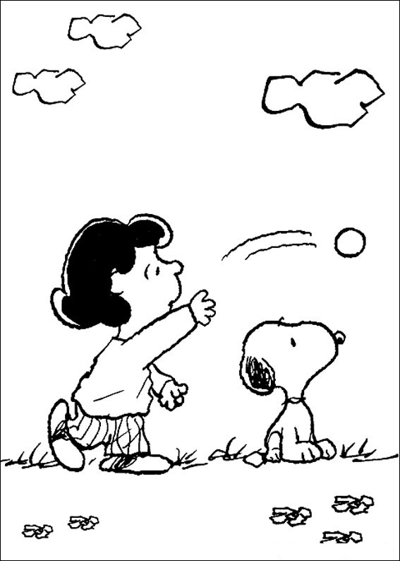 Coloriage Snoopy pour les enfants