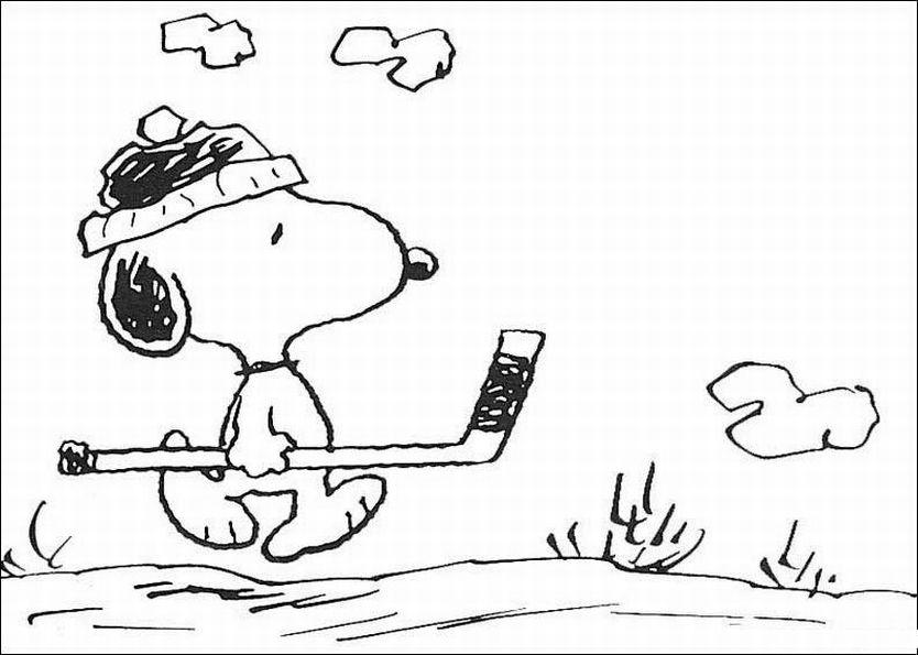 Coloriage Snoopy à imprimer