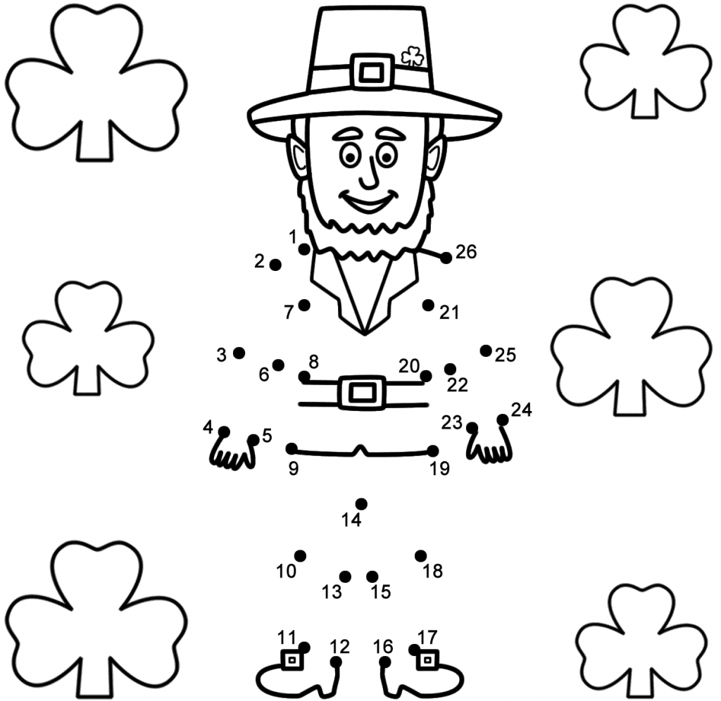 St Patricks Day Connect the Dot Puzzle