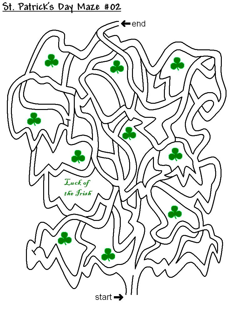 Puzzle labyrinthe de la Saint-Patrick