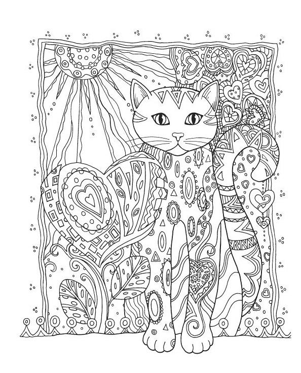 Coloriage animaux pour adultes - chat