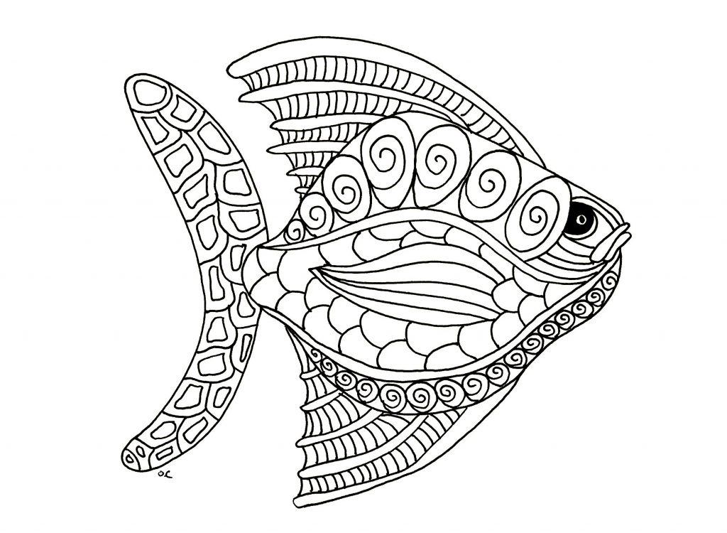 Coloriages d'animaux pour adultes - poissons