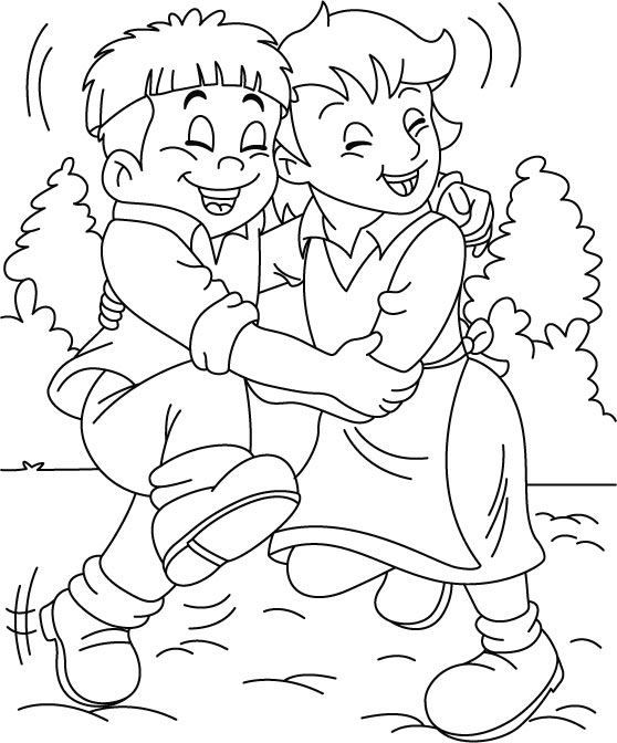 Coloriages Amis