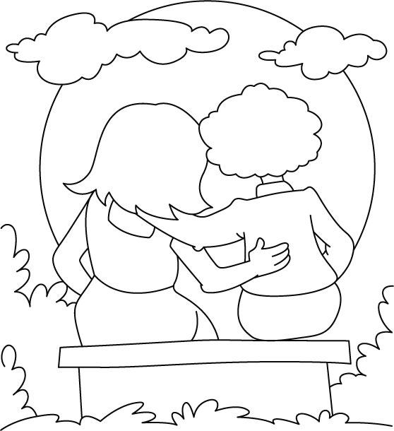 Coloriage à imprimer gratuit de l'amitié
