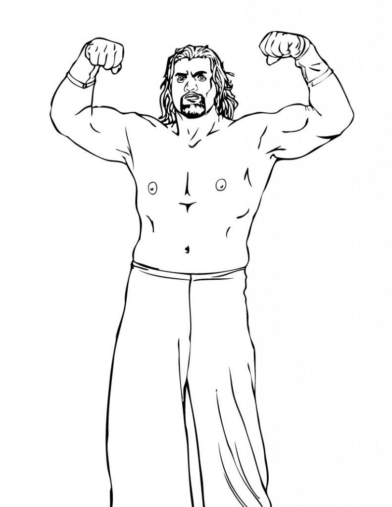 Coloriage WWE à imprimer