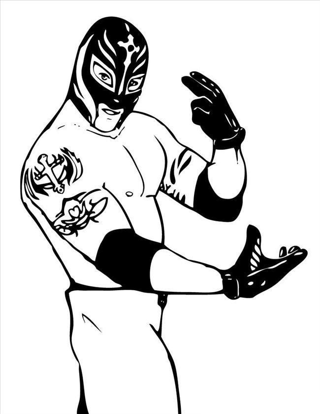 Coloriage de la WWE à imprimer