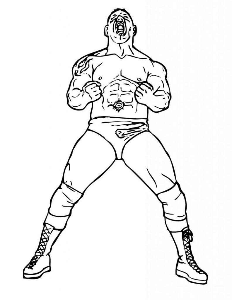 Coloriage de lutteurs de la WWE