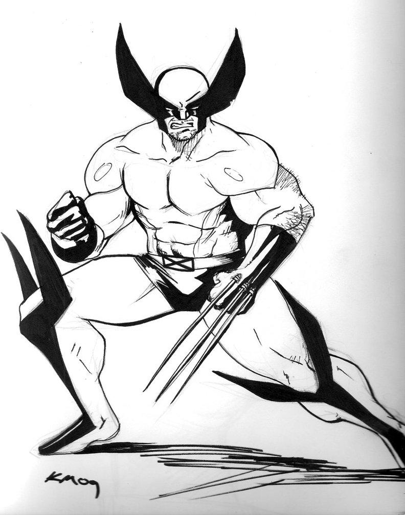 Wolverine à colorier