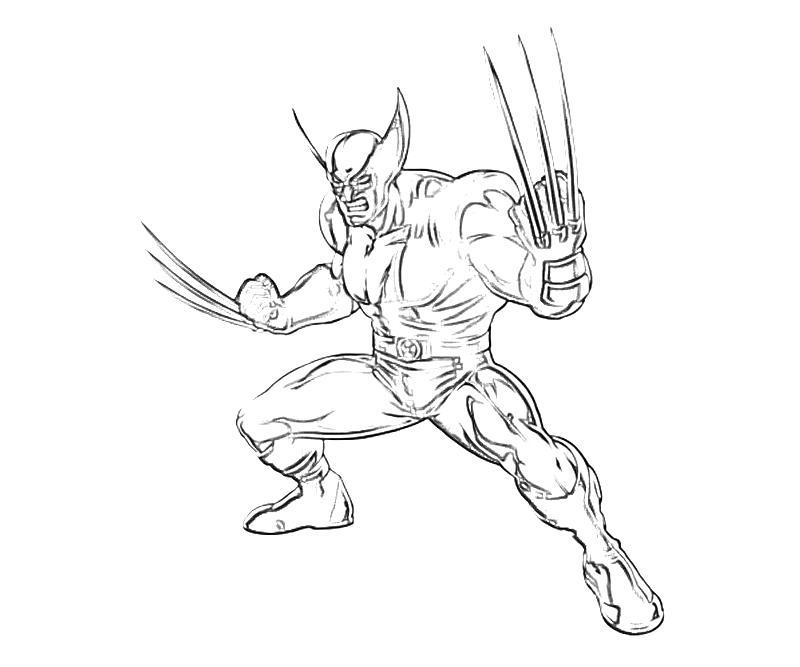 Coloriage Wolverine à imprimer