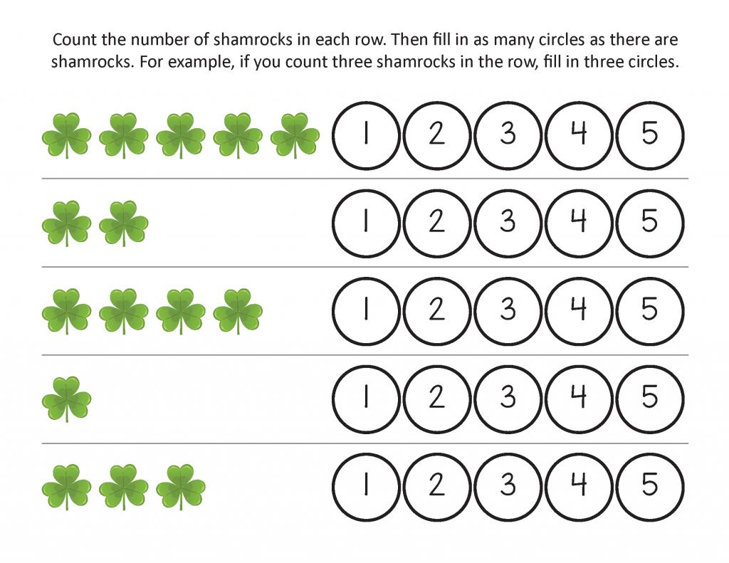 Feuilles de travail imprimables de la Saint-Patrick gratuites