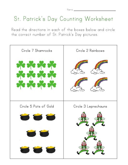 Feuilles de calcul de la Saint-Patrick
