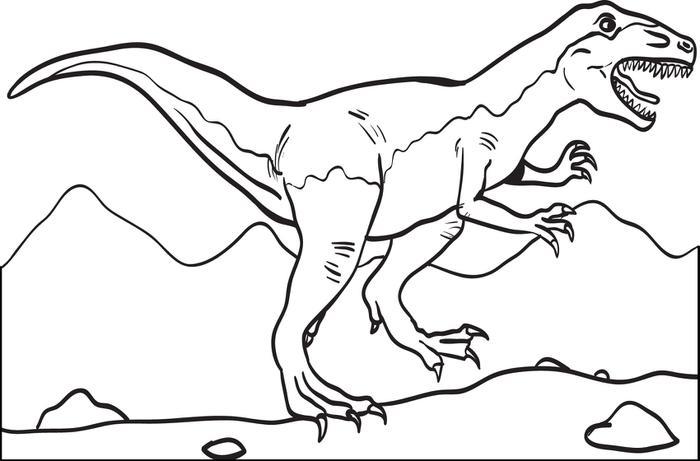 Coloriage T Rex