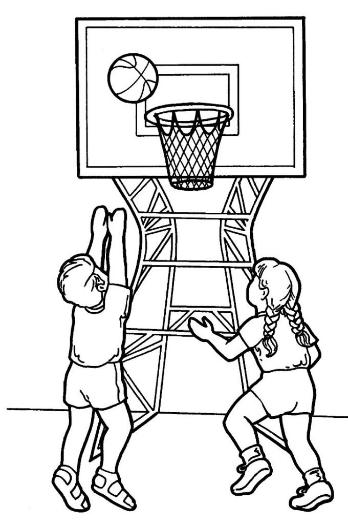 Coloriage de sport pour enfants