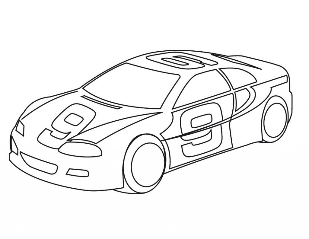 Coloriage voitures de sport