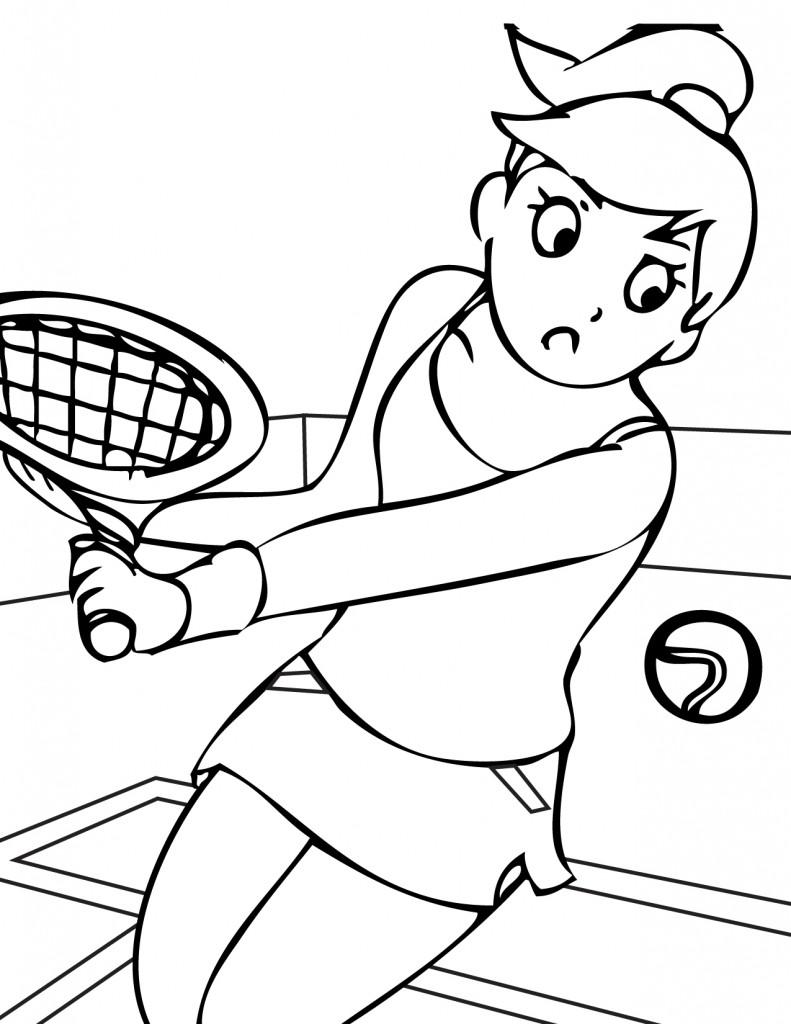 Coloriage à imprimer de sport