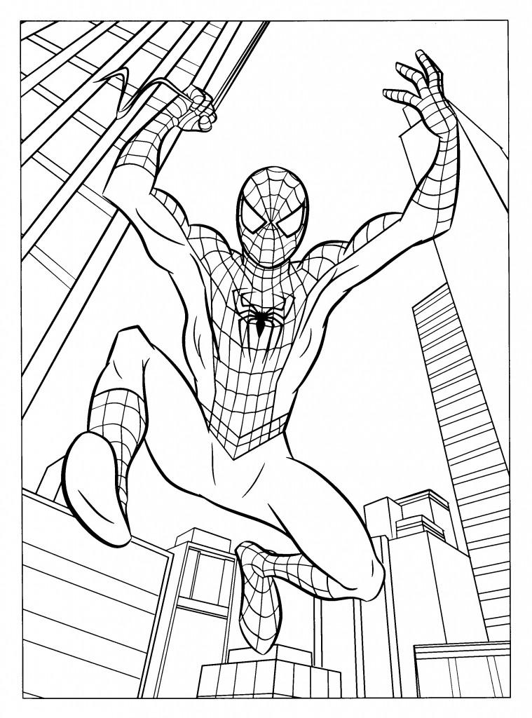 Coloriage de Spiderman