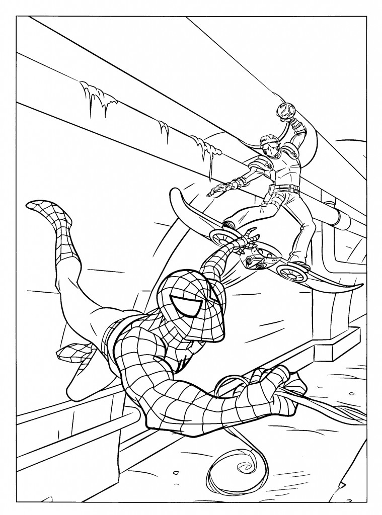 Coloriage Spiderman 3