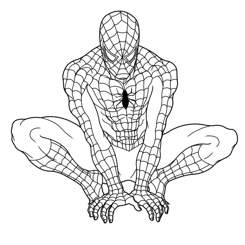 Spiderman à colorier