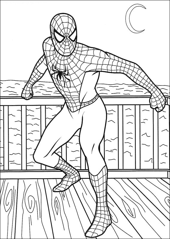 Coloriage Spiderman pour les enfants