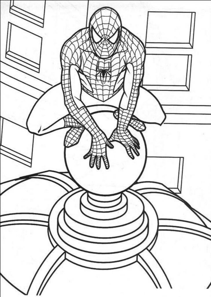 Coloriage Spiderman à imprimer