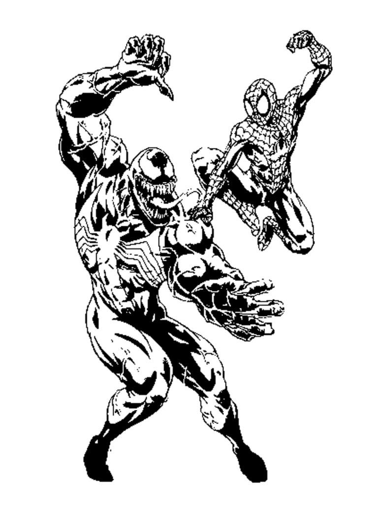 Coloriage Spiderman Venom