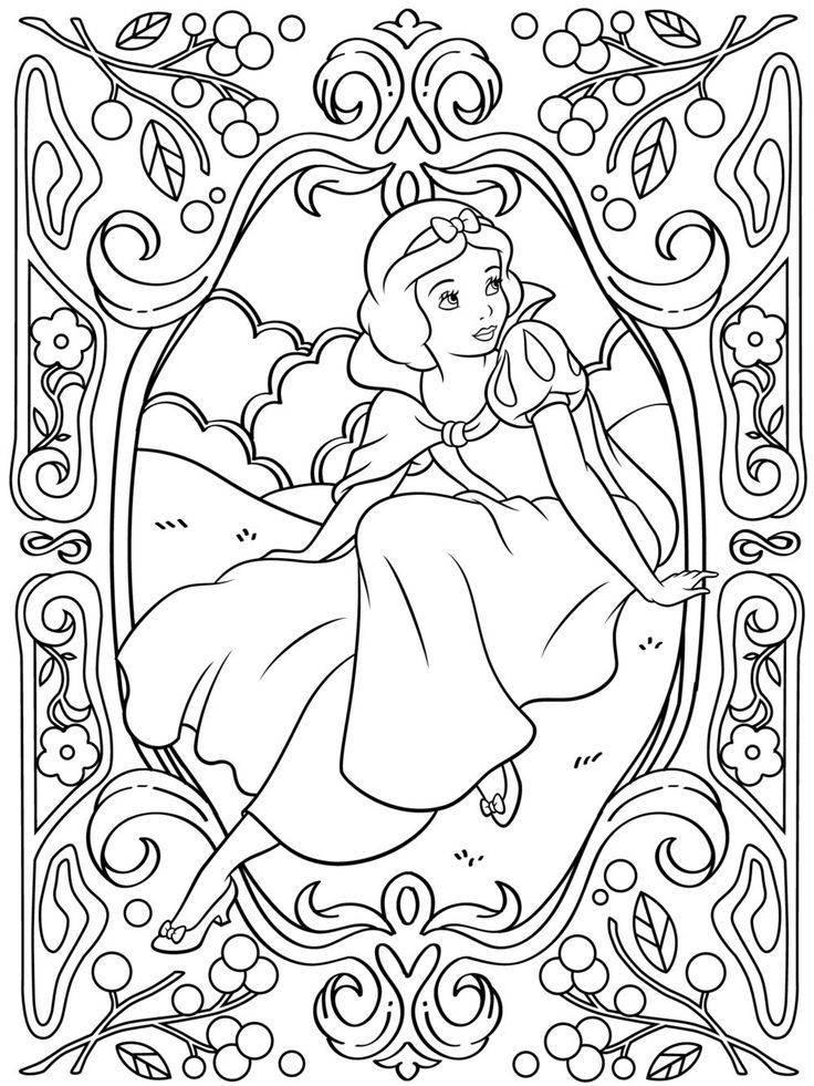 Blanche-Neige - Coloriages Disney