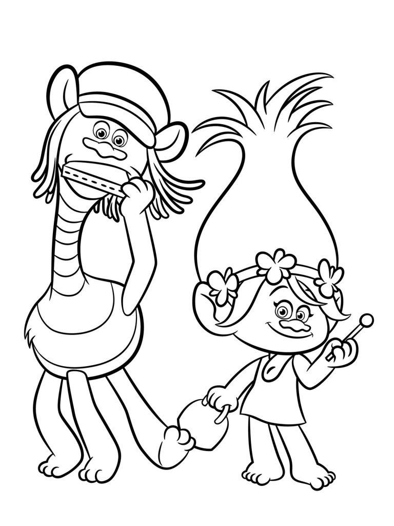 Coloriage Disney - Trolls