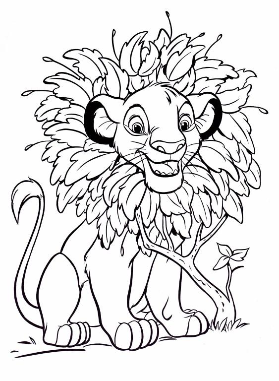 Coloriage Disney - Simba