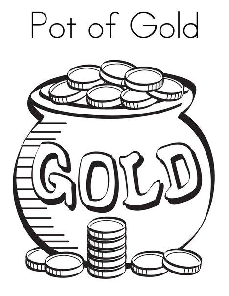 Coloriage pot d'or