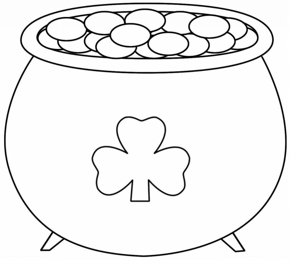 Coloriages de Shamrock Pot of Gold