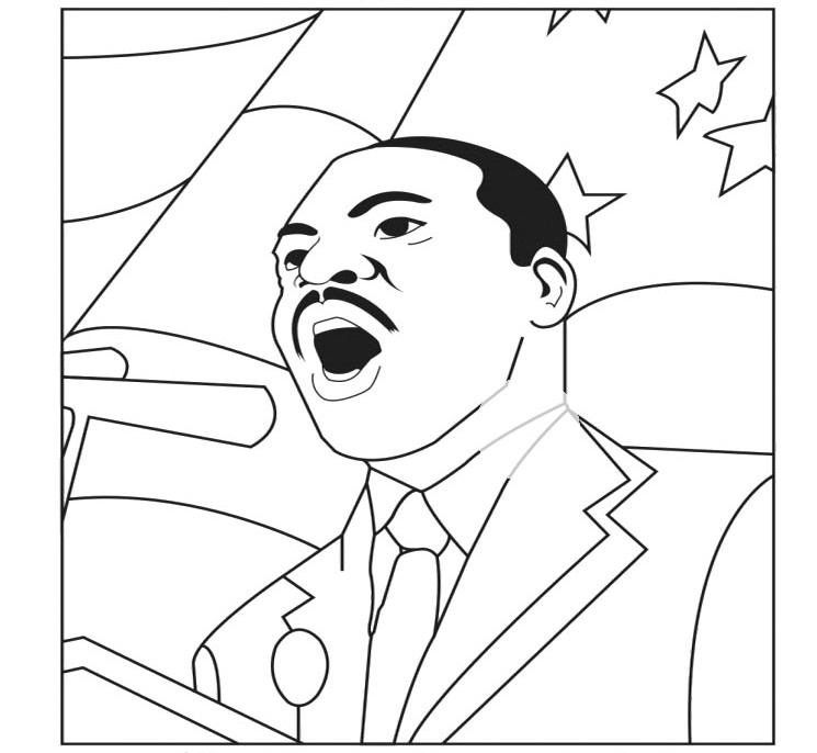 Coloriage de Martin Luther King