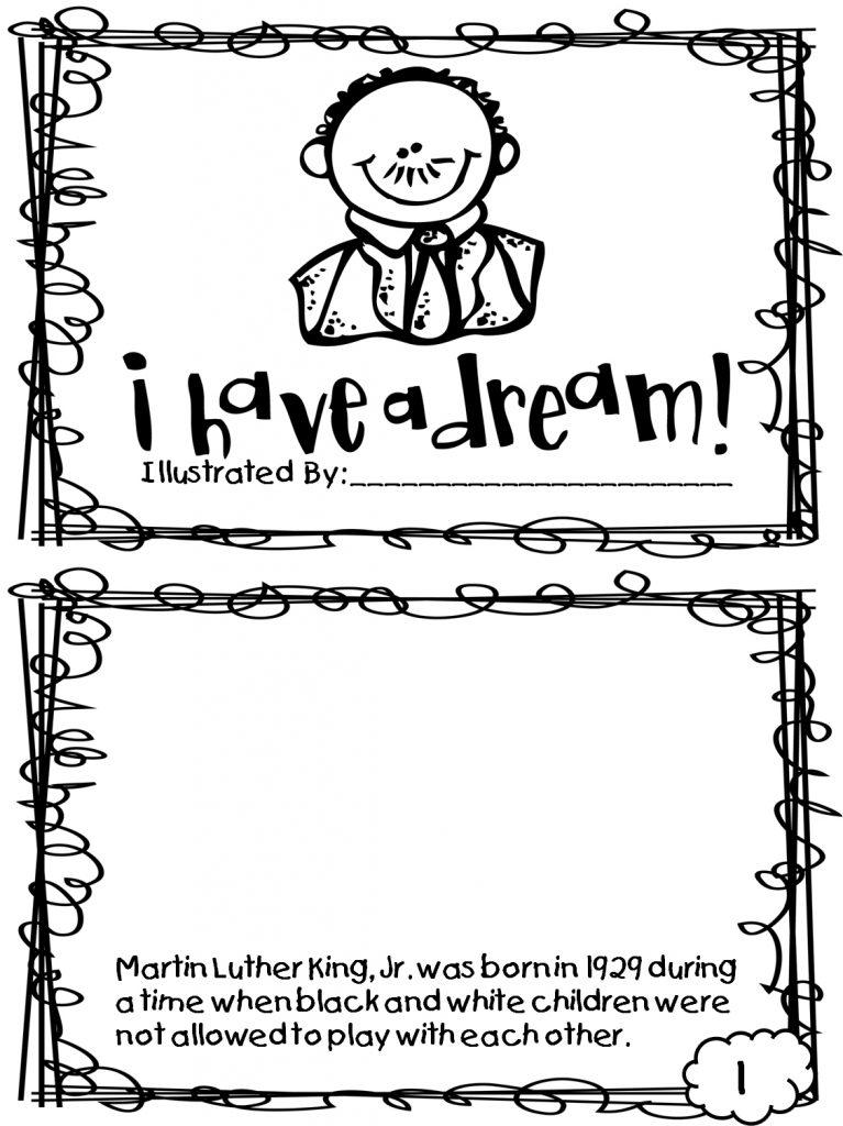 Fiche de travail Martin Luther King Jr Dream