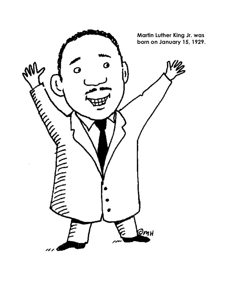Coloriage Martin Luther King Jr