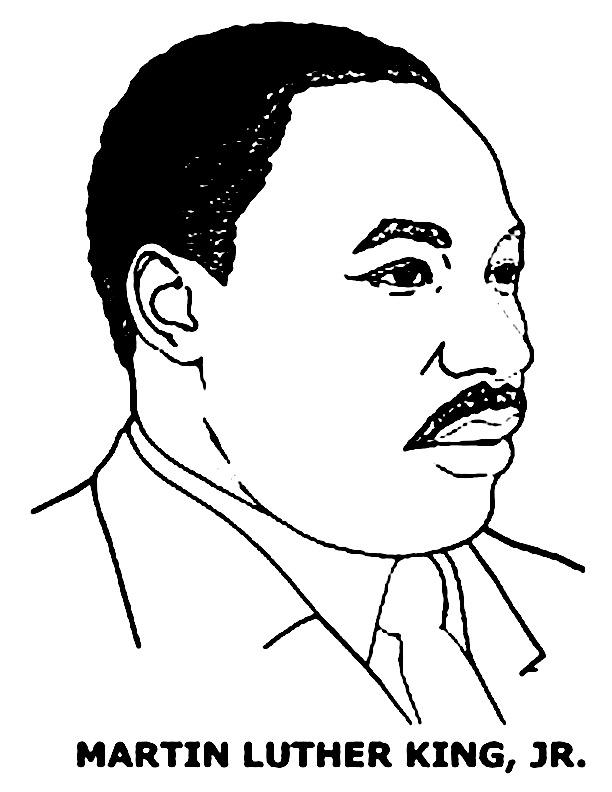Coloriage de Martin Luther King Jr