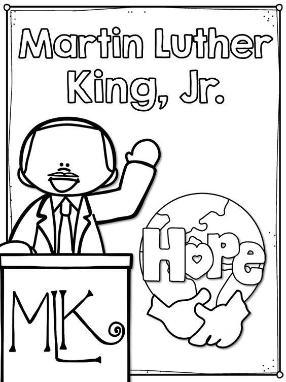 Coloriage de Martin Luther King Jr.