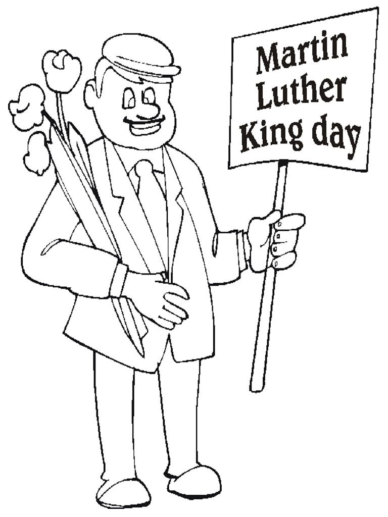 Coloriage Martin Luther King Day