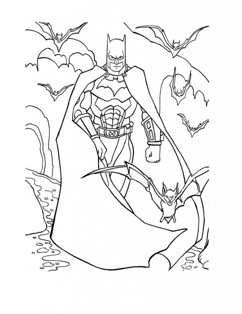 Page couleur de Batman
