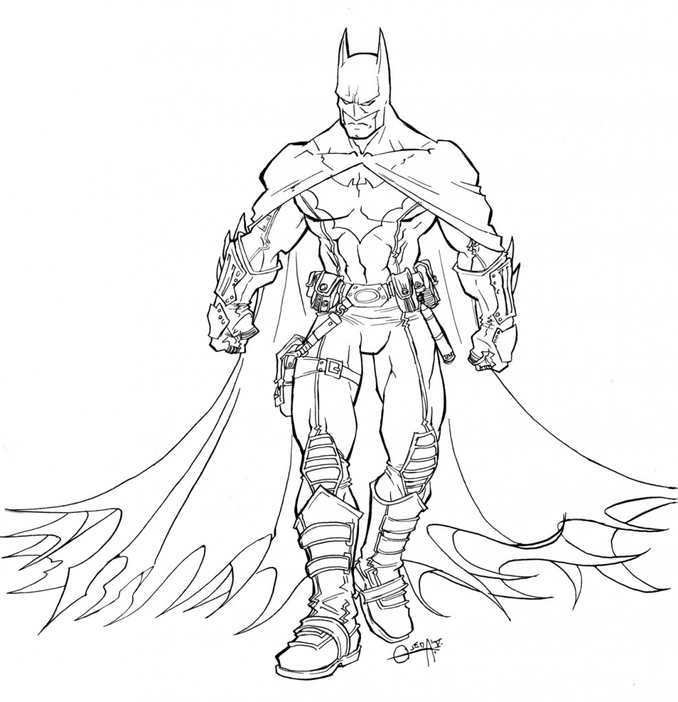 Coloriage Batman à Imprimer