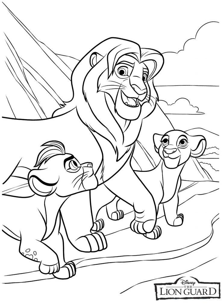 Coloriage de la garde du lion