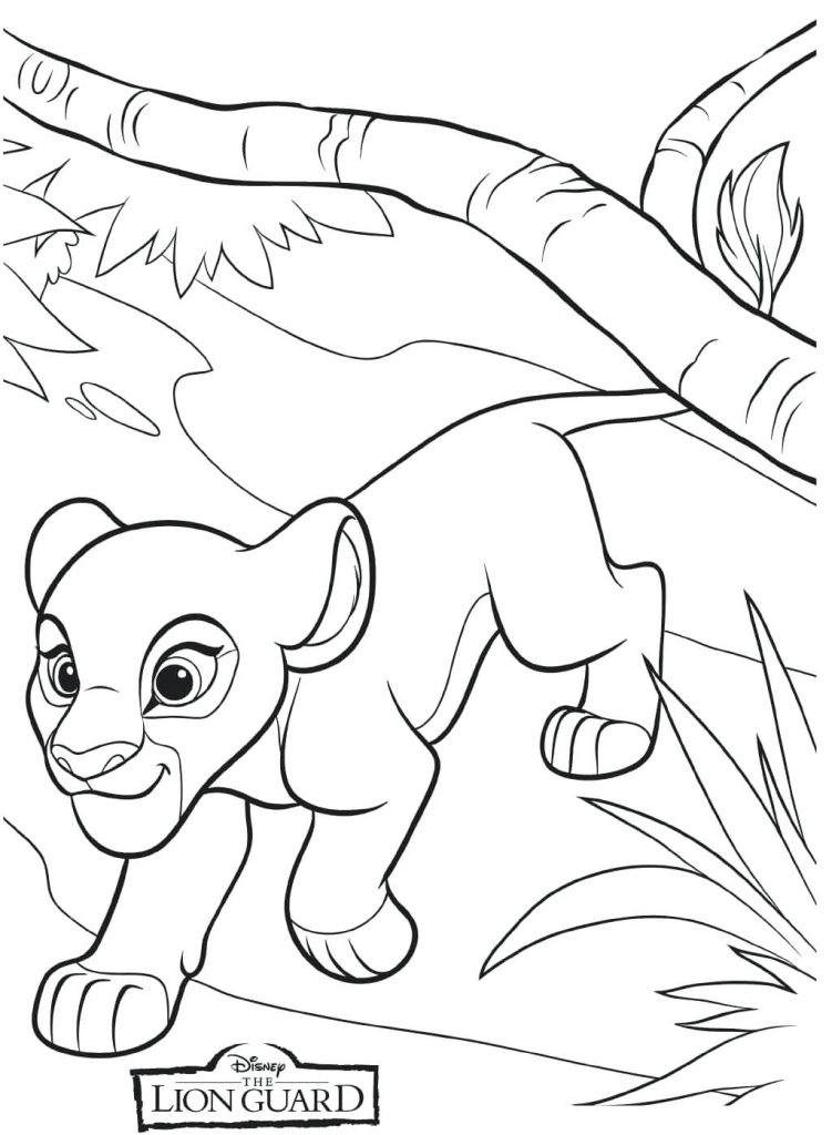 Coloriage Kiara Lion Guard