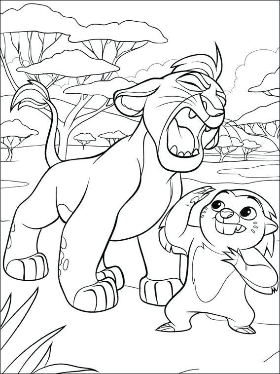 Garde de lion de couleur