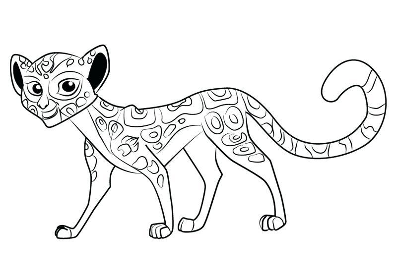 Coloriage de Lion Guard gratuit